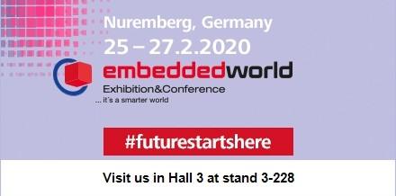 Embedded World – Nuremberg, Germany  25-27 February 2020